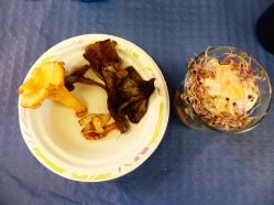 Trifásico de setas y huevo frito